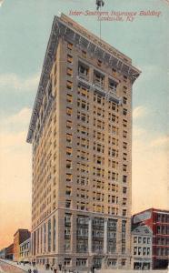 Louisville Kentucky~Inter-Southern Insurance Building~Storefronts~1908 Postcard