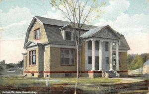 Gorham Maine~Public Library w/Gambrel Barn Roof~Colonial Pillars~Bay Window 1910