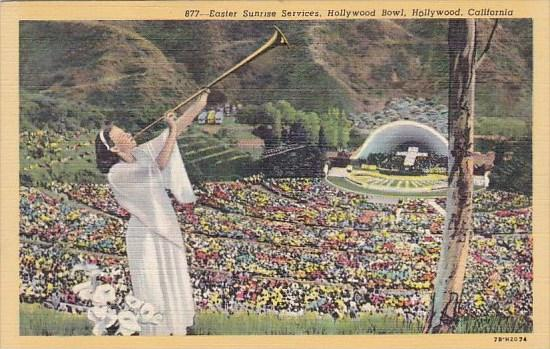 Easter Sunrise Services Hollywood Bowl Hollywood California 1951