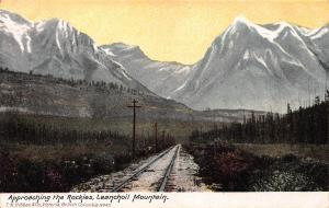 Approaching Leanchoil Mountain, British Columbia, Canada, Early Postcard, Unused