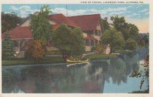 ALTOONA, Pennsylvania, 1900-1910's; View Of Casino, Lakemont Park