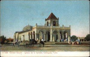 Camaguey Cuba Caridad Church c1905 Rotograph Publ New York City Postcard