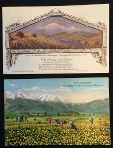Huntingon Hotel Old Baldy Pasadena CA Used/Unused Postcard (2) LB