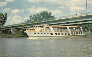 Motor Steamship RIVER ROUGE on Red River, Winnipeg, Manitoba, Canada 1940-60s