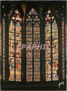 Postcard Modern Carcassonne (Aude) Saint Nazaire Basilica Choir Stained thirt...