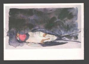 091704 Dreaming SWALLOW fairy Tale Old Russian Color PC