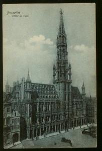 Hotel De Ville (City Hall) Building Brussels, Belgium - Unused - Some Corner Wea