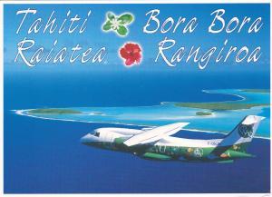 WANAIR Dornier 328 Airplane Service to Tahiti , 70-90s