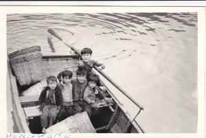 RP, Boys On A Sampan, Hong Kong, China, 1930-1940s