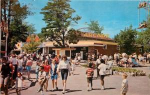 Salem New Hampshire~Canobie Amusement Park Arcade~Ferris Wheel~1960s Postcard