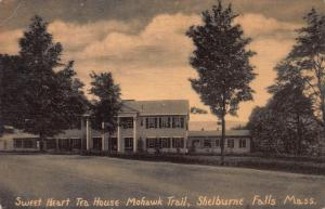 Sweet Heart Tea House, Mohawk Trail, Shelburne Falls, N.H., Early Postcard, Used