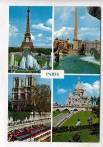 PARIS, multi view, unused Postcard