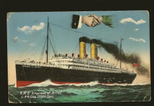 RMS Empress of Britain CPR Line Color Postcard Unposted