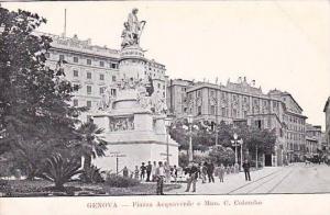 Piazza Acquaverde E Mon. C. Colombo, Genova (Liguria), Italy, 1900-1910s