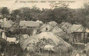 CPA AK Sénégal Afrique Fortier 42. Dakar - Quartier Indigéne (68177)