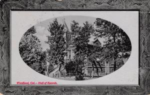 Woodland California~Hall of Records~PNC Glosso Series~1912 Postcard