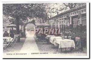 COPYRIGHT Hostel Quincangrogne Old Postcard DAmpart Sur Marne The terrace and...