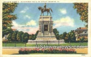 Statue Of Robert E Lee Monumen