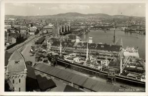 norway norge, OSLO, Harbour Scene (1950s) RPPC