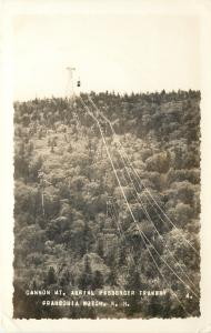 Franconia Notch New Hampshire~Cannon Mountain~Aerial Passenger Tramway~RPPC 1915