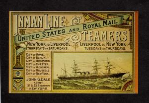 City of Rome Steamship Steam Ship Steamer New York to Liverpool England NY