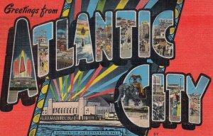 Large Letter ATLANTIC CITY, New Jersey, PU-1946