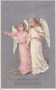 Easter Blessing Angels Walking Together 1910