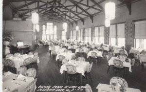 RP: DELAVAN LAKE , Wisconsin, 1948 ; Dining Room , Lake Lawn Resort