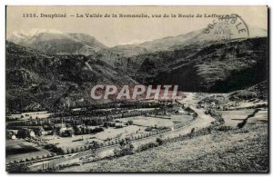 Dauphine Old Postcard The valley of the Romanche to the road Laffrey