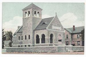 Rutland VT Baxter Memorial Library Vermont Leighton Vintage ca 1910 Postcard