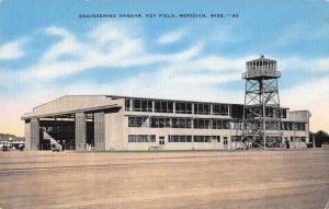 Meridian Mississippi Key Field Engineering Hangar Airport Postcard AA116