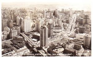 Brazil - Sao Paulo  Aerial Photo of City Center 1964