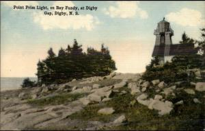 Digby NS Point Prim Lighthouse c1910 Postcard