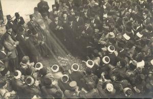 turkey, ÇANAKKALE CHANAK F.M.K., Occupation, Group of Dancing Men (1922) RPPC