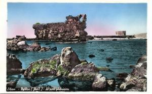 lebanon, BYBLOS GEBAL, The Phoecian Harbour (1950s) RPPC