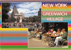 New York, Greenwich Village, terrace, animated, The Washington Arch