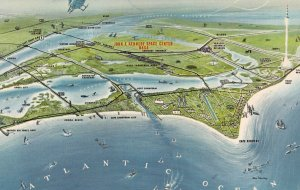 FLORIDA, 1950-1960's; John F. Kennedy Space Center, N.A.S.A., Map