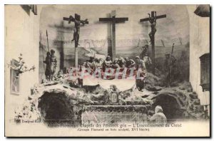 Postcard Aix en Provence Old Chapel of Gray Penitents the Entombment of Chris...