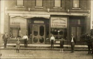 Orwell NY AE Olmstead Store Storefront c1910 Real Photo Postcard