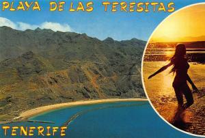 Spain Playa de Las Teresitas Tenerife Beach Panorama Postcard