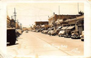 Pittsburg CA Street View Store Fronts Old Cars Trucks RPPC Real Photo Postcard