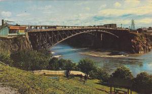 Bridge, High Tide, Reversing Falls, Saint John & Lancaster, New Brunswick, Ca...