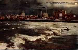 Minnesota Minneapolis Milling District By Moonlight 1915