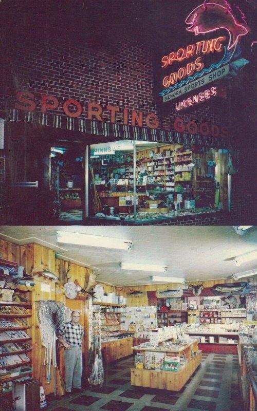 KENORA , Ontario, Canada, 1963 ; Kenora Sport Shop ; Interior & Exterior