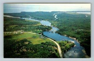 Ontario- Canada, Mississaugi River, Lake Huron, Blind River, Chrome Postcard