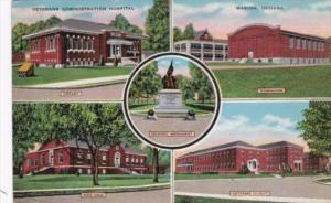 Indiana Marion Veterans Hospital Mess hall Cottages and Soldiers Monument 1941