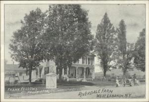 West Lebanon NY Riverdale Farm c1910 Postcard #2