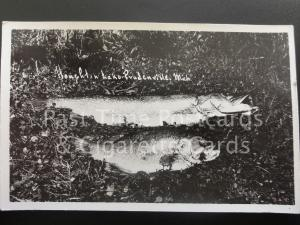 USA: Anglers (1) Michigan, Houghton Lake, Prudenville showing caught fish RPPC