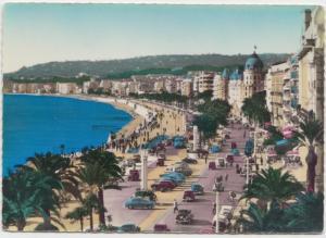 NICE, La promenade des Anglais, 1950s unused Postcard