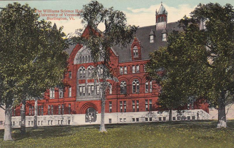 BURLINGTON, Vermont, 1900-10s; Williams Science Hall, University of Vermont
